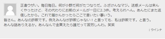 小野コメント